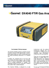 Gasmet - Model DX4000 - Portable FTIR Gas Analyzer Data Sheet