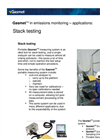 GASMET Stack Testing Application Note Brochure