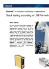 Stack Testing According to U.S. EPA Methods (Application Note)