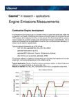 Engine Emissions Measurements (Application Note)