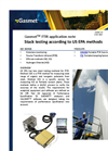 Stack testing according to US EPA methods - application note