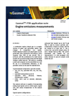 Engine emissions measurements - application note