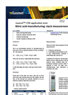 Nitric acid manufacturing: stack measurements - application note