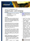 Anesthetic gases – point monitoring - application note