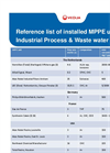 Reference List of Installed MPPE Units Industrial Process & Waste Water