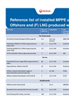 Reference List of Installed MPPE Units Offshore and (F) LNG Produced Water