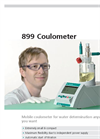 Metrohm - Model 899 Coulometer - Entry-level Titrators for Water Analysis - Brochure