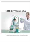 Metrohm - Model 870 KF Titrino Plus - Entry-level Titrators for Water Analysis - Brochure