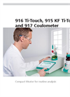 Metrohm - Model 916 Ti-Touch - Compact Potentiometric Titrator - Brochure