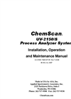 ChemScan - UV-2150/S - Chloramination Analyzer - O & M Manual