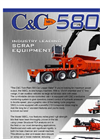 C&C Mfg - Model Al-Jon Series 580CL - Twin-Ram Car Logger Baler - Brochure