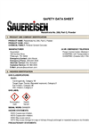 Sauereisen RestoKrete - Model No. 208 - Part C, Powder - MSDS