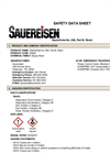 Sauereisen RestoKrete - Model No. 208 - Part B, Resin - MSDS