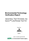 Quick™ Low Range Test Kit: Verification Report