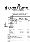 Crane Equipment - Model 160 SW Stationary - Knuckleboom Cranes - Datasheet