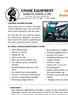 Crane Equipment - Model 160 SW - Self Loader - Brochure