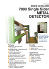 Metalarm 7000 Single Sider Metal Detector Brochure