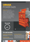 ORWAK POWER 3420 - Product Sheet