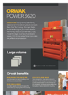 ORWAK POWER 3620 - Product Sheet
