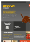 ORWAK - Model BRICKMAN 2000K - Automatic Briquetting Machine - Brochure