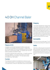 Presona - Model 40 OH - Hydraulic Horizontal Channel Baler - Brochure
