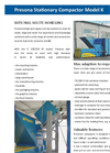 Presona - Model K - Stationary Compactor - Brochure