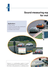 Sound Measuring Equipment for Motorsport - Brochure