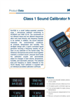 Nor1256 Class 1 Sound Calibrator - Brochure