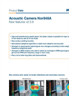 Nor848A Acoustic Camera - new features in software v 2.5.9