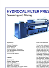 Hydrocal - Filter Press Dewatering and Filtering Brochure