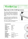 WeatherLog - High Gain Antenna Datasheet
