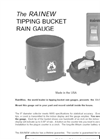 Rainew Tipping Bucket Rain Gauge Datasheet