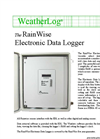 RainWise - Model EDL - Weather Station Data Logger - Datasheet