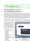 WeatherLog - S-12 - Display Console and Data Logger - Datasheet