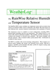 RainWise - RH/T - Relative Humidity and Temperature Sensors Datasheet
