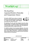 RainWise - ASPRH/T - Aspirated Temperature and Humidity Sensor - Datasheet