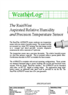 RainWise - Model ASPRH/TP - Precision Aspirated Temperature and Humidity Sensor - Datasheet