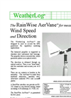 WeatherLog AerVane - Wind Speed and Direction Sensor - Datasheet