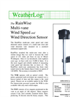 RainWise - WSR/WDV - Multi-Vane Wind Speed and Direction Sensor Datasheet