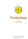 WeatherSnoop - Mac Software User Guide