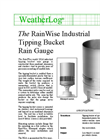 RainWise - Model RGA - Industrial Tipping Bucket Rain Gauge - Datasheet