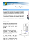 Datasheet pressure regulator