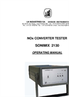 Sonimix - Model 2130 - NOx Conv Tester Manual