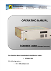 Sonimix - Model 3060 - High Purity Nitrogen Generator Manual