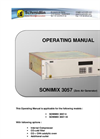 Sonimix - Model Sx 3057 - Self Regenerable Zero Air Generator Manual