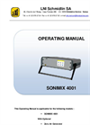 Sonimix - Model Sx 4001 - Ozone Primary Transfer Operating Manual