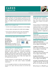 CARUS 8100 Water Treatment Chemical Datasheet