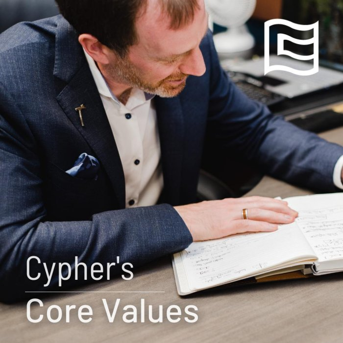 Cypher's Core Values - What Really Matters to Us