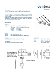 T/LL70 Series Vertical Float Switches Datasheet