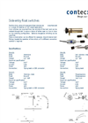 Side Entry Float Switches Datasheet